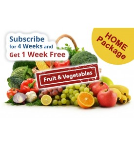Fruit & Vegetables - Home Package (Subscription 4 weeks + 1 free)