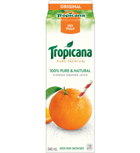 Tropicana Pure Premium Orange Juice Without Pulp (1L)