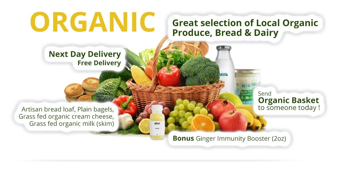 Organic Basket - Fruit & Vegetables, Bread & Dairy